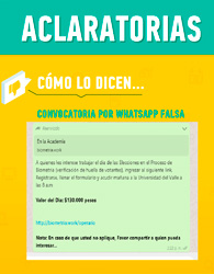 Falsa convocatoria laboral